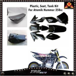 Black Plastics Seat Fuel Tank Set 200 250cc Atomik Hummer Zongshen