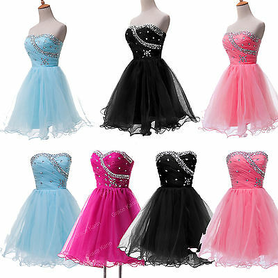 STOCK New Beads TUTU Lady Sexy Party Gown Quinceanera Wedding Homecoming Dresses
