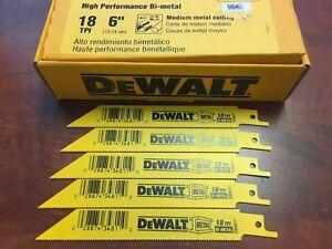 "6/"" RECIP SAW BLADES 18TPI BI METAL Similar to DeWalt DW4811 DW4811B 100"