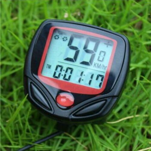 LCD Cycle Bike Bicycle Speedometer Odometer Waterproof  Stopwatch Tool