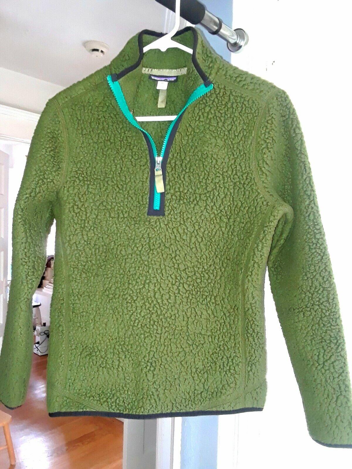 Patagonia W's Retro Pile 1 4-Zip Nomad Green - - - Size  XS 50807c