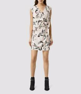 Details about All Saints Airie Canna Silk Dress in Chalk White Size UK 14 BNWT £168