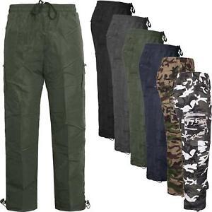 Thermal-Lana-Forrada-De-Invierno-Calido-Elastico-Cargo-Pantalones-De-Trabajo-Combat-Caminar