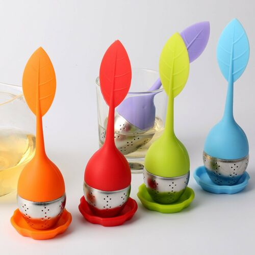 Silicone /& Stainless Spice Filter Steel Leaf Tea Strainer Teaspoon Infuser Ball