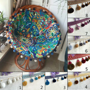 1M-Pom-Pom-Balls-Beads-Curtain-Sewing-Tassel-Fringe-Trim-Edging-Ribbon-Accessory