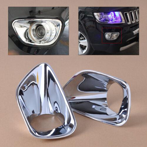 Neu Chrome Nebelscheinwerfer Licht Rahmen Für Jeep Grand Cherokee 2011 2012 2013