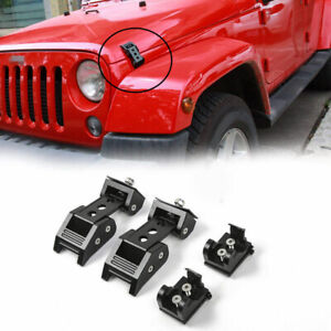 Durable-Car-Accessories-Locking-Hood-Catch-Latches-For-Jeep-Wrangler-JK-JL-07-19