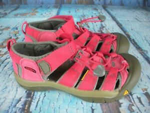 KEEN-Newport-H2-Red-Waterproof-Sport-Sandals-Shoes-Girl-039-s-Youth-Size-3