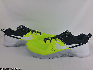 Details about Nike Metcon 1 Volt Men s Size 11.5 704688-710 Pure Platinum  Blk Crossfit Trainer ace809a52