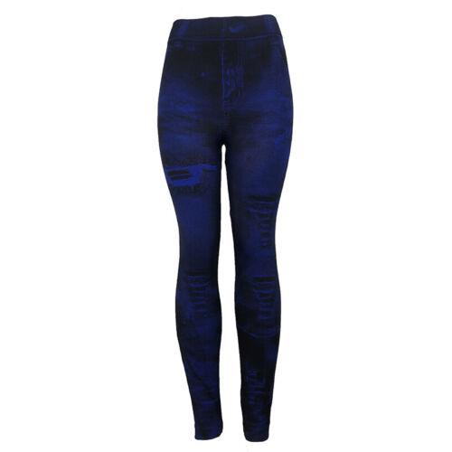 Ladies Women Jeans Denim High Waist Stretch Slim Skinny Fit Pencil Pants Trouser