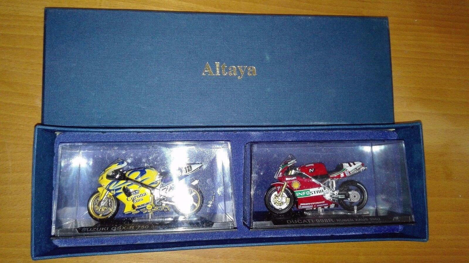 DUCATI 998R Y SUZUKI GSX-R 750 2002 REGALO DE SUSCRIPTORES ALTAYA   IXO 1 24