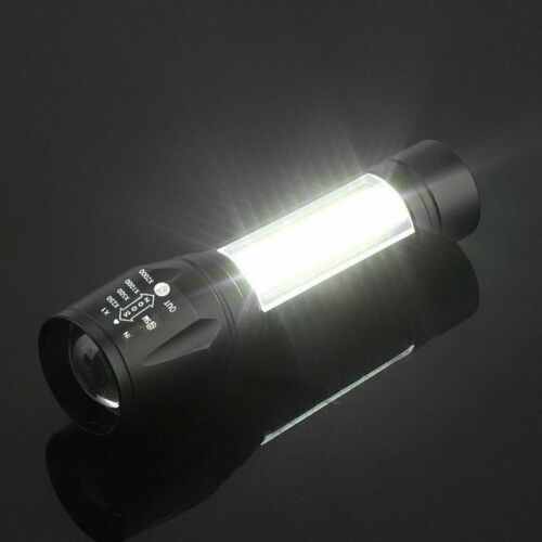 Portable T6 COB LED USB Rechargeable Zoomable Flashlight Torch Lamp Light
