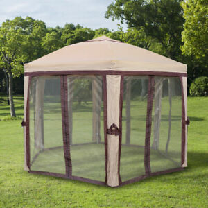 11ft Tent Canopy Screen Mesh Easy Setup Pull Out 6 Person ...