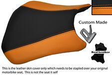 Negro Y Naranja personalizado se adapta a Honda Cbr 600 Rr5 rr6 05-06 delantera cubierta de asiento
