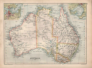 Map Of Australia 1901.Details About 1901 Victorian Map Australia Queensland New South Wales Victoria Sydney