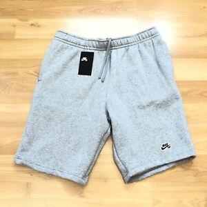 Details about Nike SB Icon Fleece Shorts Men Size Large Light Grey