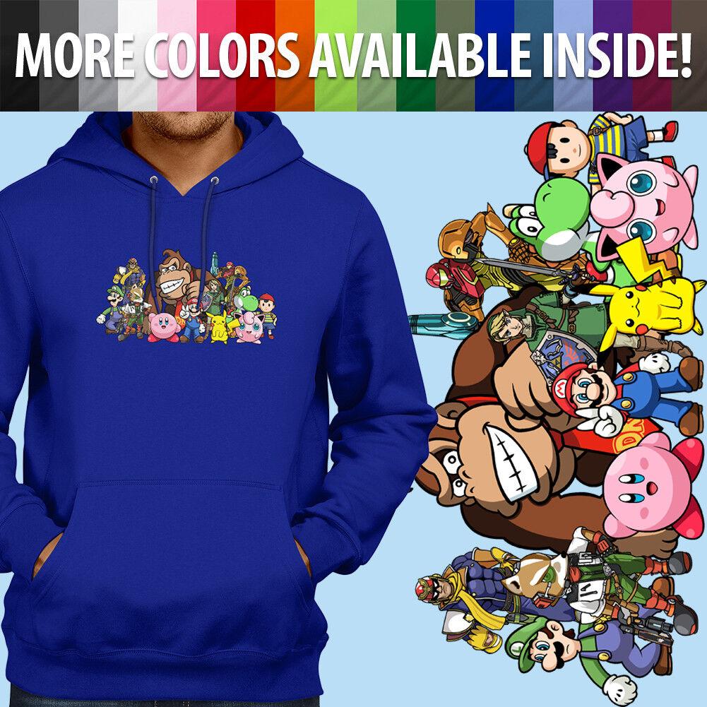 Super Smash Bros Yoshi Mario Pikachu Link Pullover Sweatshirt Hoodie Sweater