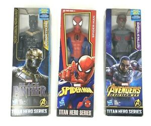 MARVEL-Titan-Hero-serie-Spider-Man-Falcon-Black-Panther-Erik-Killmonger