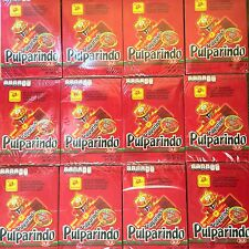 240 PC Pulparindo XTRA HOT Tamarind Fruit Strip Chili Mexican Candy Lot 12 Boxes