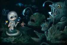 Jasmine Becket-Griffith art print fairy fish mermaid sea SIGNED Abyssal Mermaid