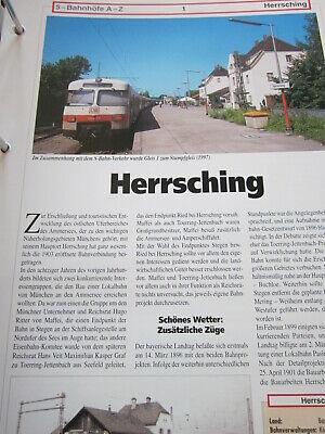 Bahnhof mit Gleisplan N Schaftlach Bayern 6S