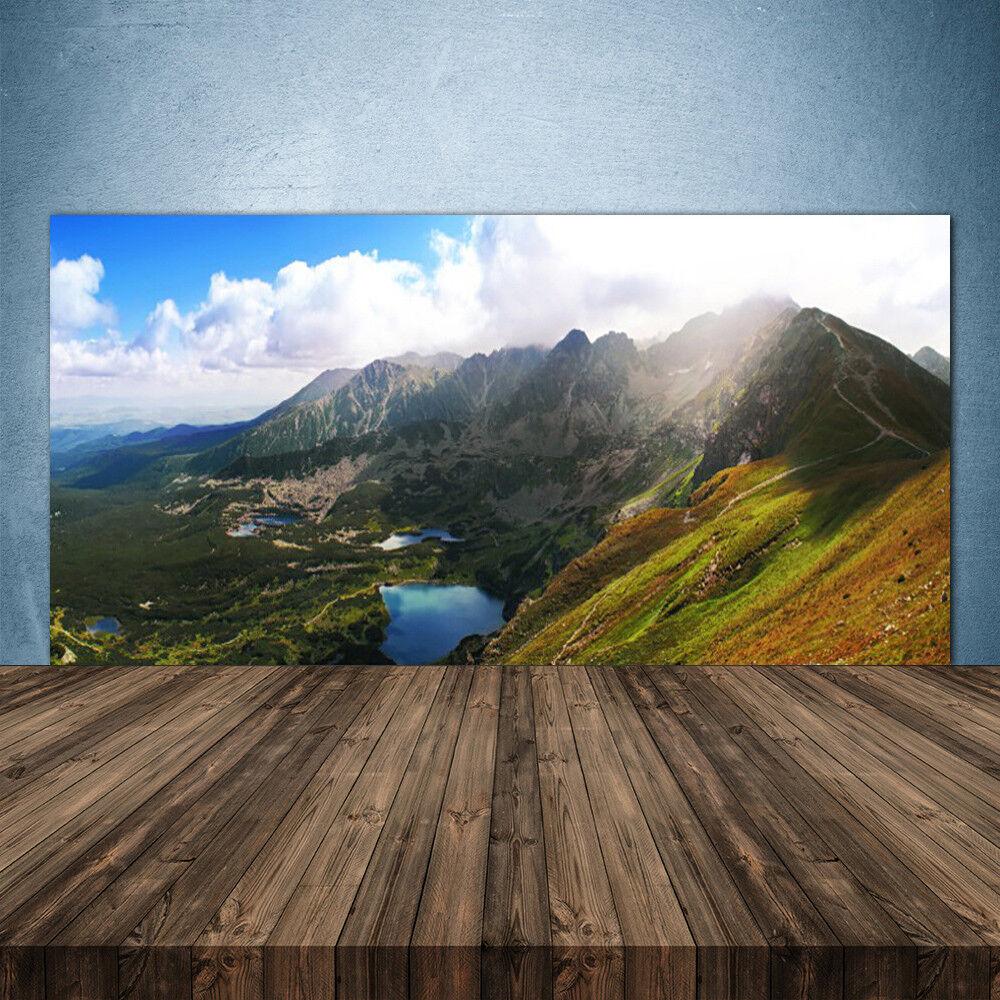 Crédence de cuisine en verre Panneau 140x70 Paysage Prairie Montagne