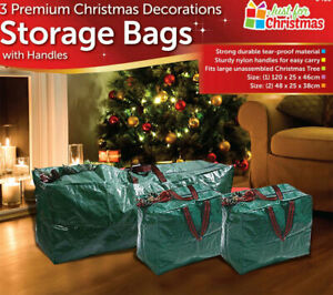 3-X-Large-Christmas-Storage-Zip-Bags-Tree-Decorations-Lights-With-Handles
