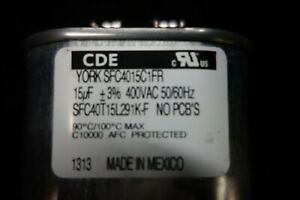 15-UF-400-VAC-York-Oval-Capacitor-For-259-W-MH-New-Old-Stock-No-PCBs