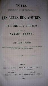 RELIGION-1858-ACTES-DES-APOTRES-ET-EPITRE-AUX-ROMAINS-A-BARNES