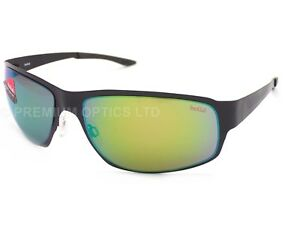 39eb7ddc043 Image is loading BOLLE-AUCKLAND-Matte-Black-Sunglasses-Emerald-Mirror -Lenses-