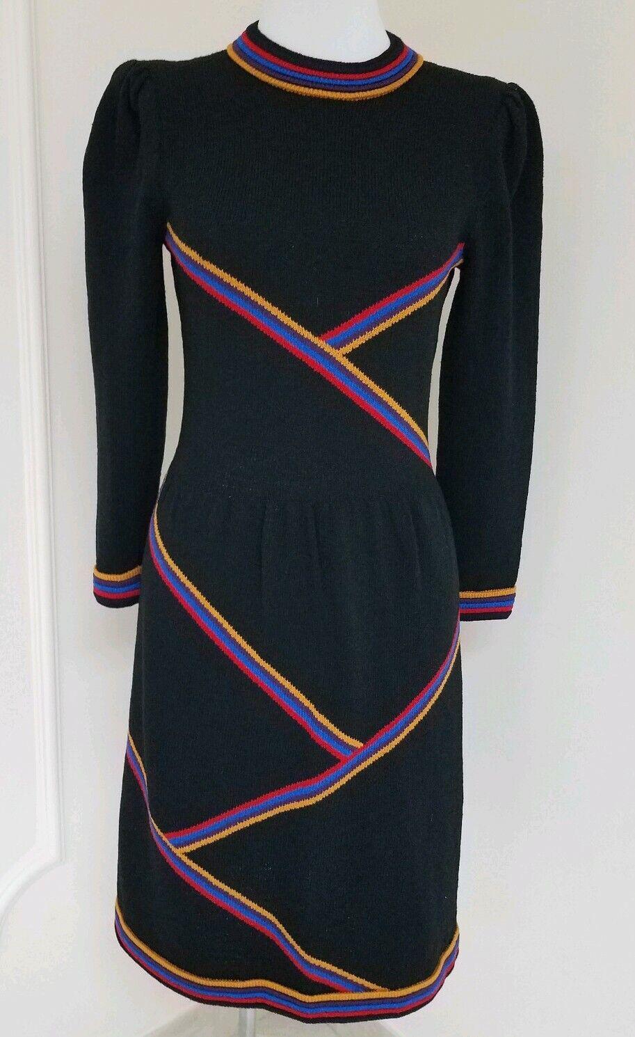 Vintage ADOLFO Santana knit dress Größe--tag missing--seems like S-M