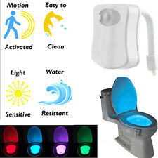 LED Toiletten Badezimmer Nachtlicht Bewegungs WC Sitz Sensor Lampe Night Light