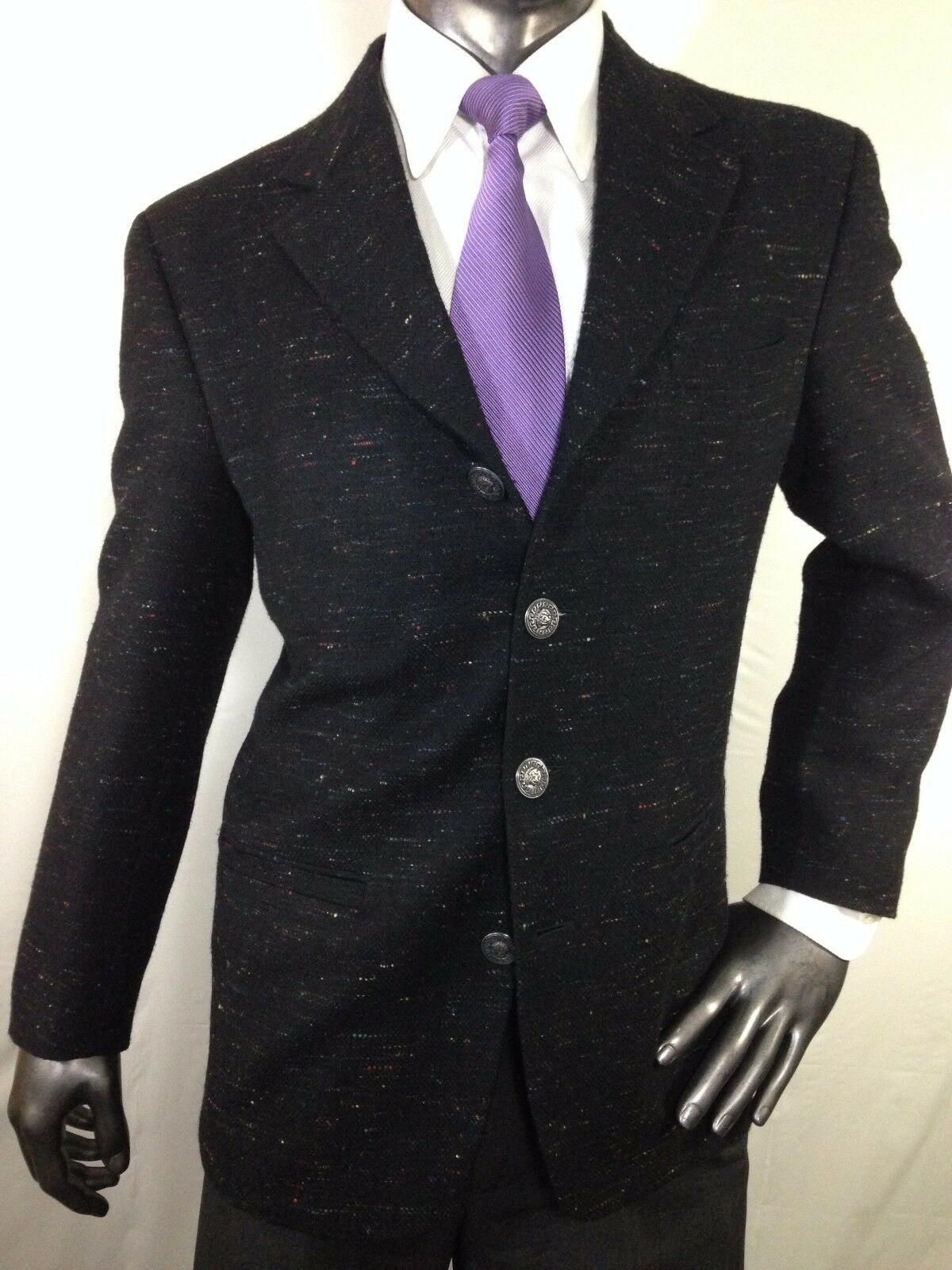 Vtg Auth Excellent GIANNI VERSACE 4 Button men sport coat 38 Made in Switzerland