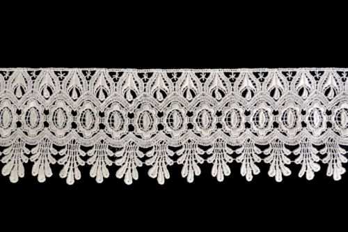 """Lily 4/"""" Ivory and White Pick Venise Vintage Victorian Floral Lace Trim By Yard"""