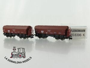 R143-ESCALA-N-FLEISCHMANN-85-8396-K-Grosraum-Guterwagen-SET-fur-Getreide-DR