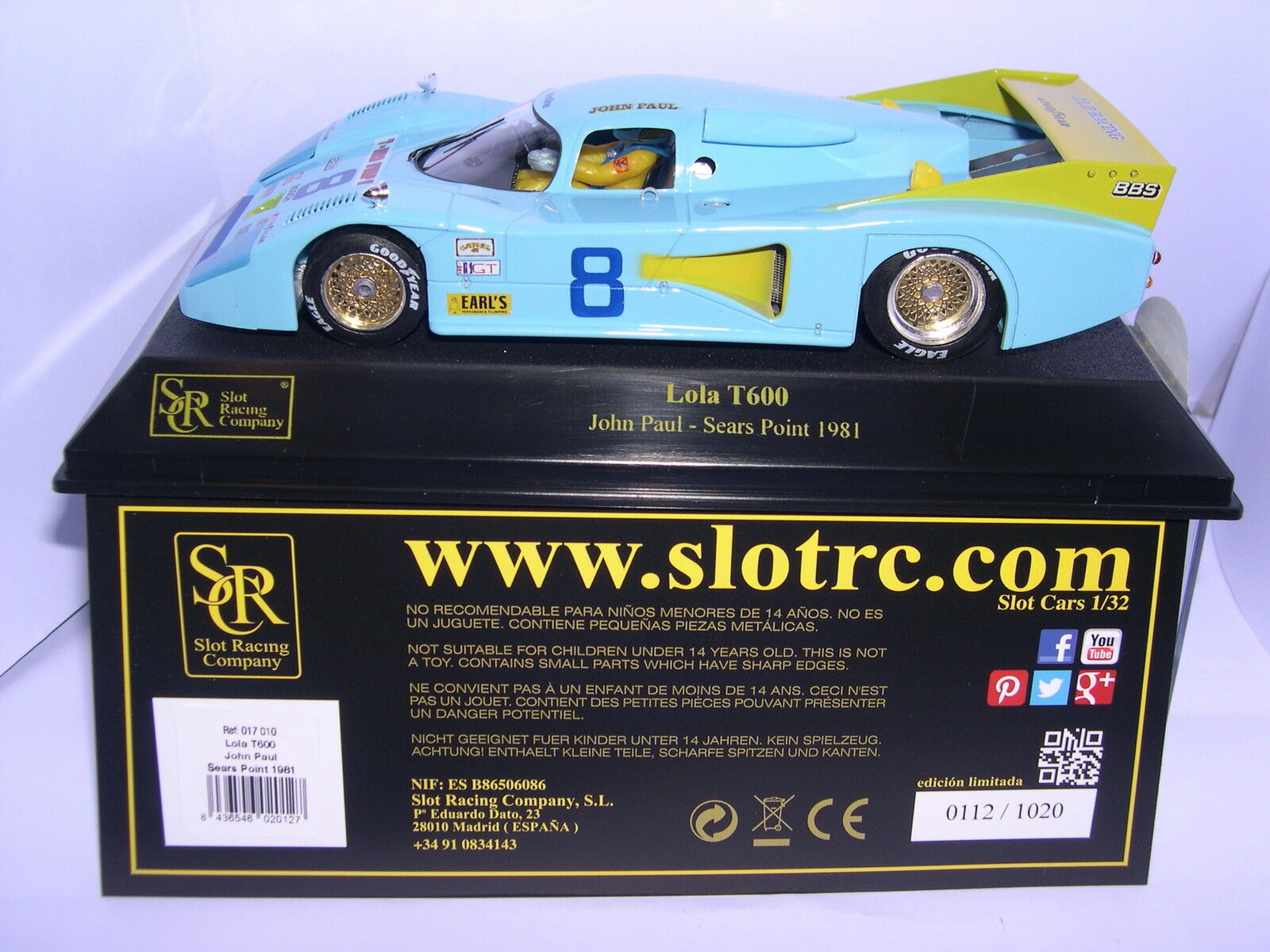 SRC 017 010 LOLA T600  8 SEARS POINT 1981 JHON PAUL LTED.ED.1020 UNITS MB