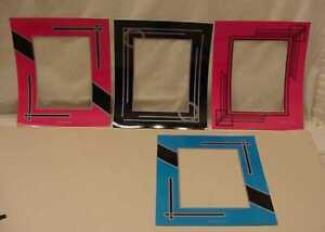 8-ART-DECO-REVERSE-STYLE-PAINTED-PICTURE-FRAME-MATS-LOT-2