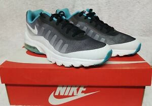 Nike-Air-Max-Invigor-Print-Men-039-s-Size-9-Shoes-Black-White-Gamma-Blue-749688-014