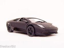 Flat  BLACK Lamborghini Murcielago LP640  Car Vehicle Diecast  1/36 Pull Back
