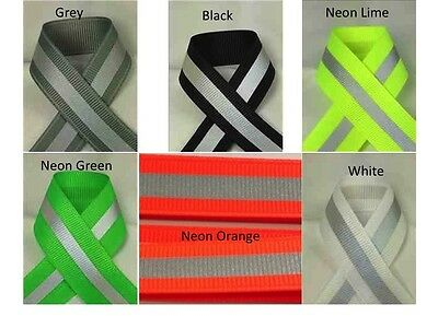 "5/8"" Reflective Glo Grosgrain Ribbon- Select Color and Yards - Silver Reflective"