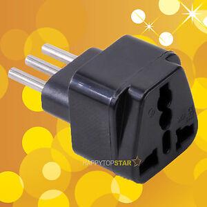 Easy Convert Universal UK/US/EU/AU to Italy Italian Travel AC Power Adapter Plug