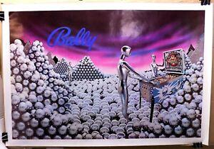 Rare-1980-promo-advertising-poster-BALLY-PINBALL-GAMES-arcade-Silverball-Mania-E