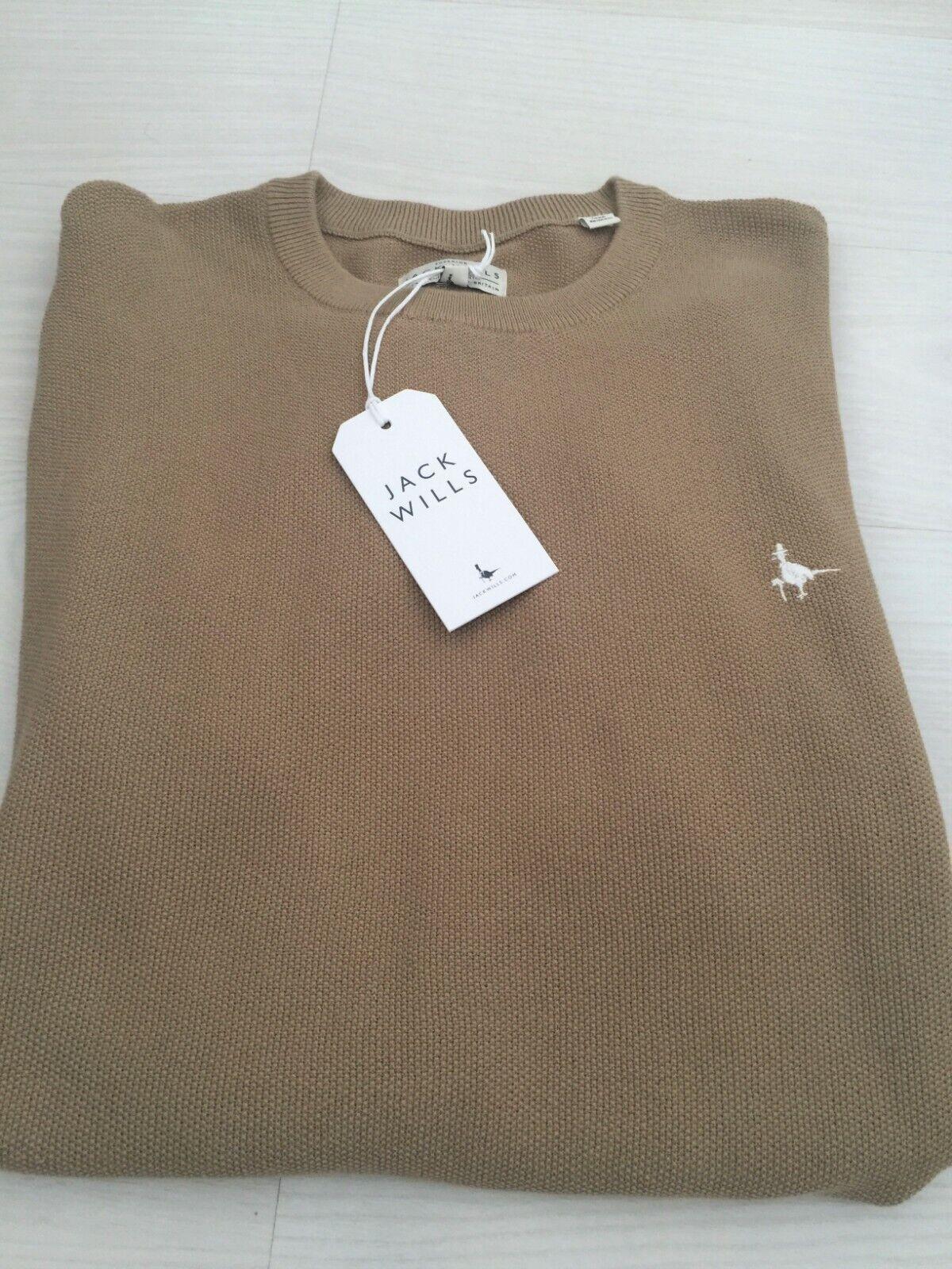 JACK Wills uomo sabbia Crew maglione a girocollo taglia M di marca nuovo etichettato  Festa del Papà