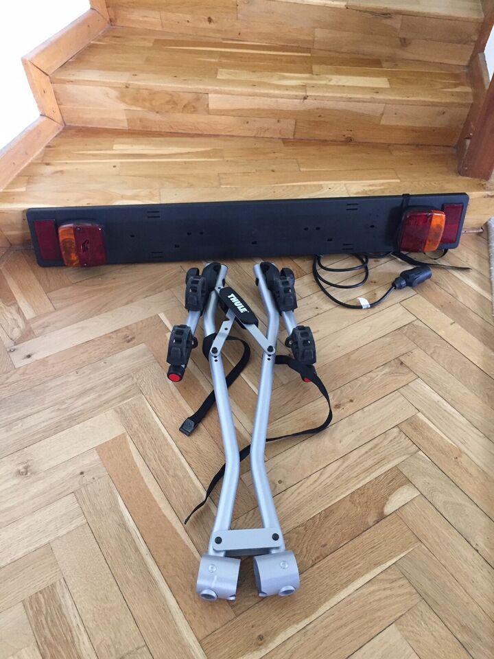 Andre reservedele, Cykelholder og lyspanel fra Thule ,