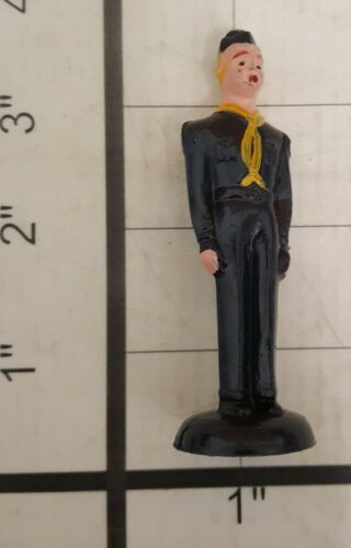 """3 PACK BOY SCOUT CAKE TOPPER AMERICA SCOUTS 4/"""" TALL TRADITIONAL BLUE UNIFORM"""