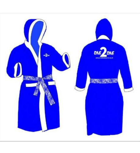 Mens Boxing//Gym//Swimming//Sports and for all purpse Gown Blue//White ONE2ONE LOGO