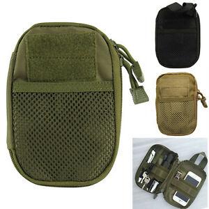 Men Tactical Medical First Aid EDC Bag Pouch Pocket Molle Bag Organizer Outdoor