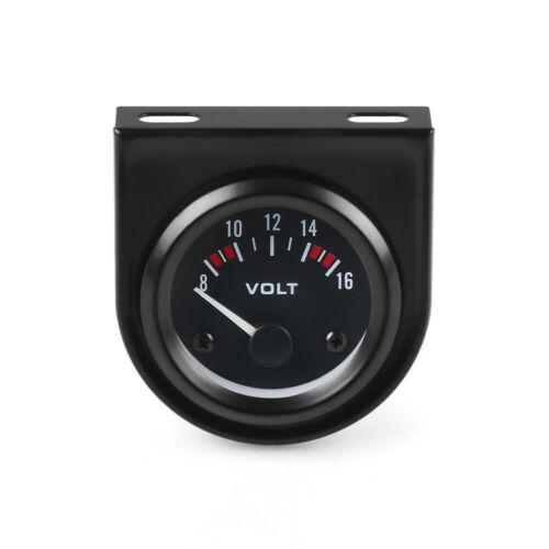 """2/"""" 52mm Mechanical White LED Car Auto Volt Voltmeter Voltage Gauge Meter 8-16V"""