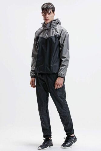 HOTSUIT Sauna Sweat Suit Men/'s Weight Loss Workout Gym Jacket//Pants Black Small