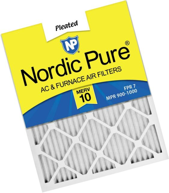 MERV 12 Pleated AC Furnace Air Filters 6 Pack 11/_3//4x19/_3//4 Nordic Pure 12x20x1